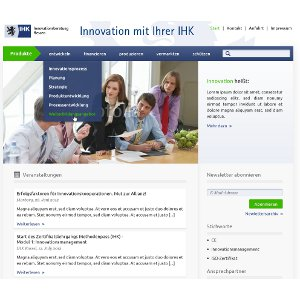 Design de site web pour IHK-Innovation Consulting Hessen