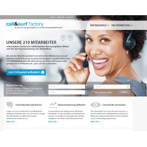 Design de site web pour Call Surf GmbH