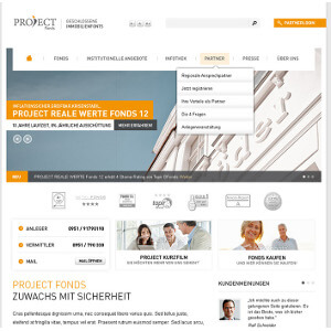 Design de site web pour EOM- Project Fonds